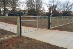 single cattle gate with oper